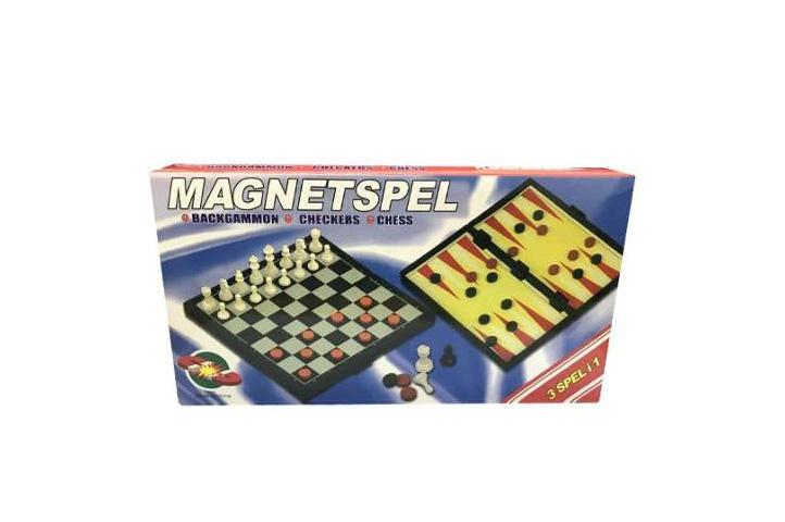 JUEGO DE AJEDREZ MAGNETICO 3 en 1 GRANDE (HH)