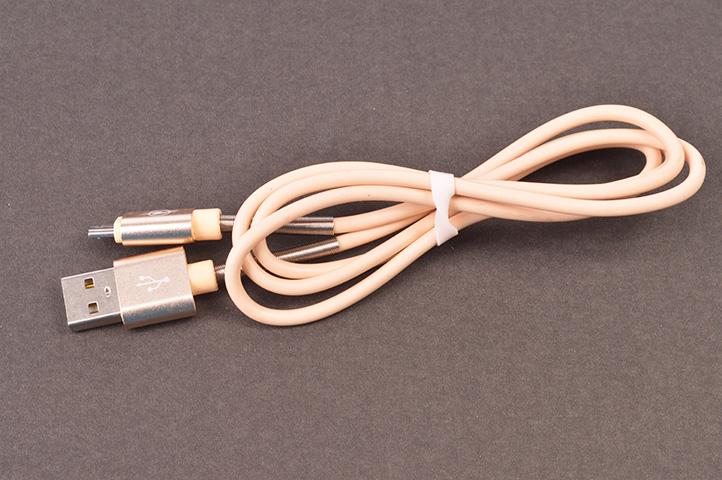 CABLE USB A V8 c/RESORTE (HEY)