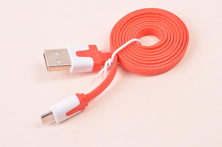 CABLE USB A V8 SILICONA PLANO ENROLLADO (HEY)