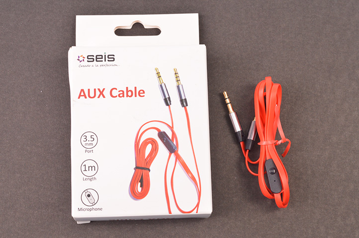 CABLE AUXILIAR c/MICROFONO -SEIS- (HEY)