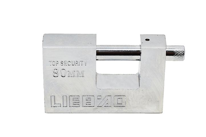CANDADO ACERO BLINDADO HORIZONTAL LIEBAO 80mm (22205) (CLI)