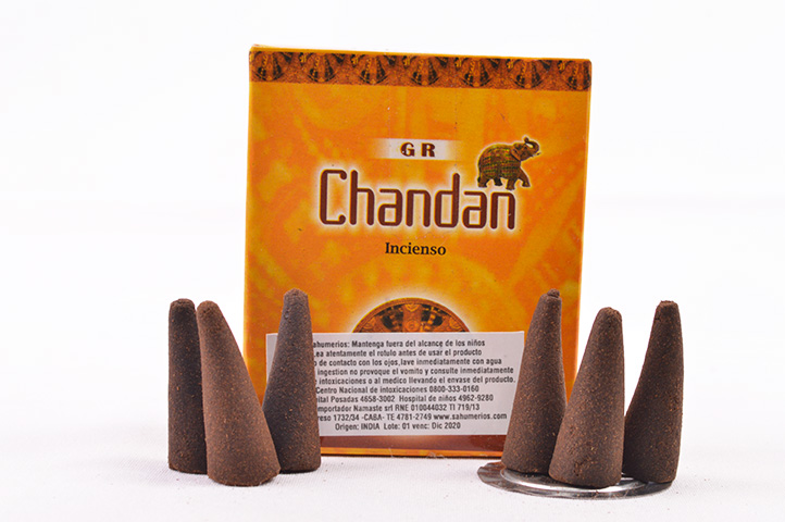 CONOS AROMATICOS x10unid GR CHANDAN (PS)