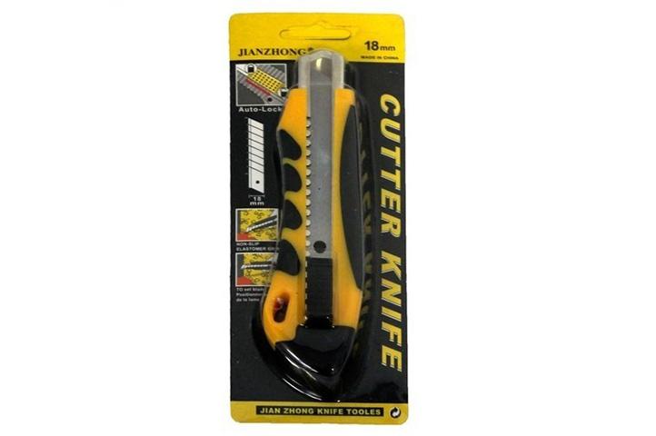 CUTTER c/GRIP DE GOMA 18mm (22776) (CLI)