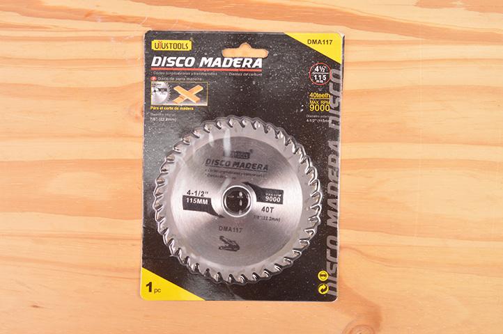 DISCO p/MADERA 40 DIENTES 115 mm (15405) (CLI2)