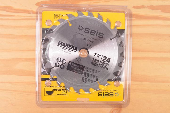 DISCO p/MADERA 24 DIENTES 185mm (01381) (CLI2)
