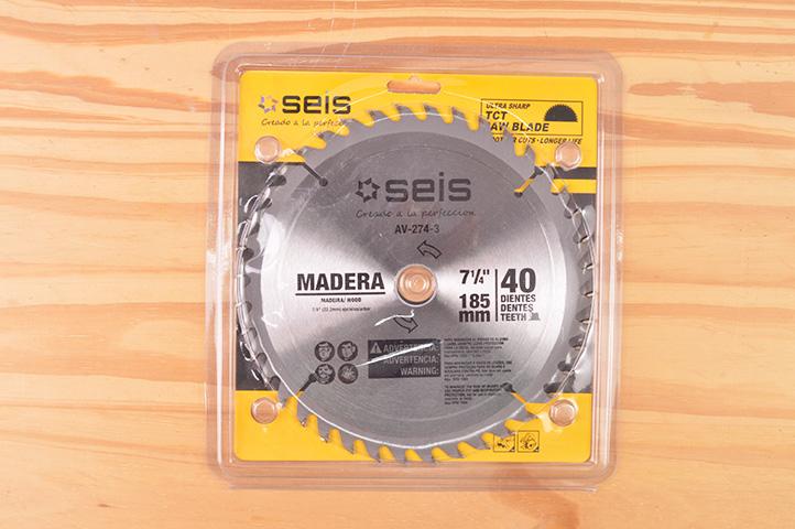 DISCO p/MADERA 40 DIENTES 185mm (1398) (CLI2)