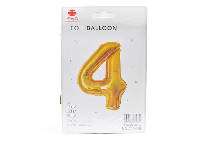GLOBO FOIL BALLOON DORADO GRANDE Nro.4 (0615) (LU)