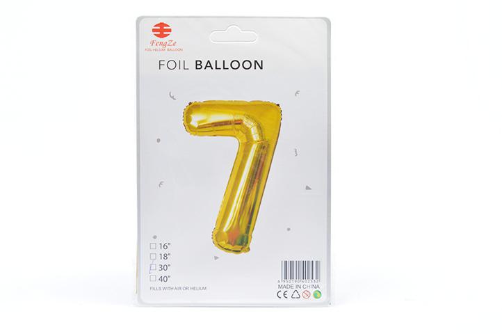 GLOBO FOIL BALLOON DORADO GRANDE Nro.7 (0615) (LU)