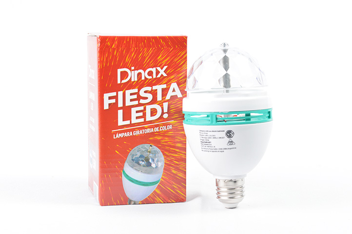 LAMPARA LED COLORES BASE GIRATORIA DINAX (HC)