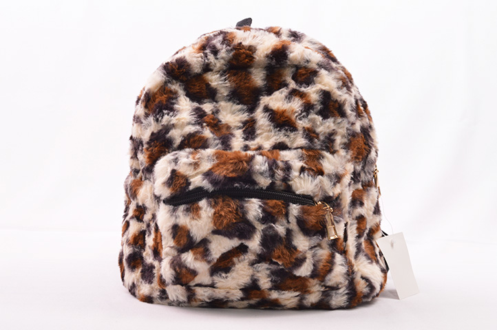 MOCHILA CHICA PELUCHE ANIMAL PRINT (2019-20) (CLE)