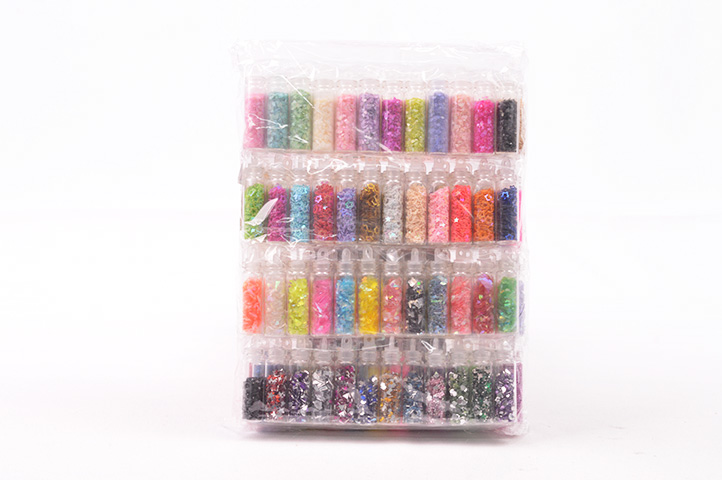 PACK 144 FRASQUITOS GLITTER MULTICOLOR (031A10) (CS)