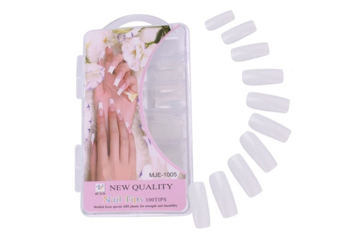 PACK 100 UÑAS POSTIZAS NEW QUALITY BLANCA (MJE-1005) (CS)