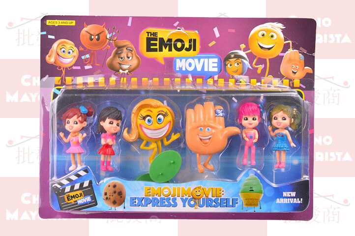 PLAY SET 6 PERSONAJES EMOJI MOVIE CHICOS (ADR)