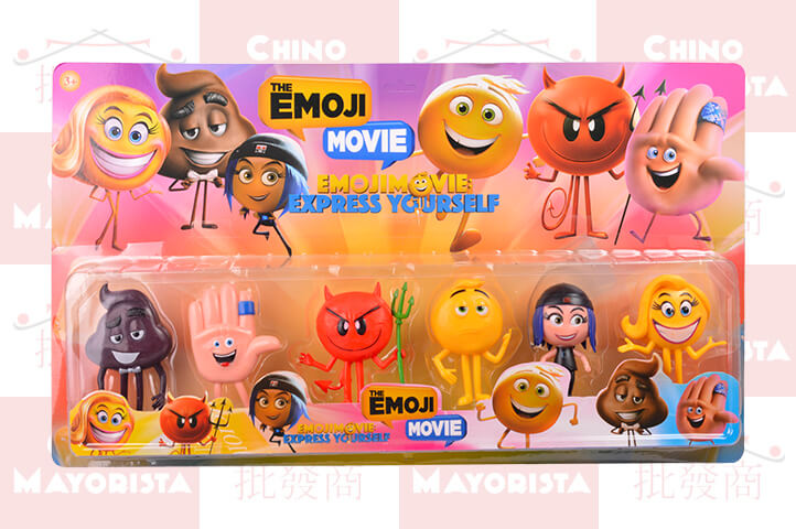 PLAY SET 6 PERSONAJES EMOJI MOVIE GRANDES (ADR)