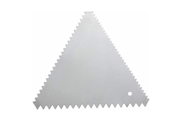 SCRAPER TRIANGULO p/BORDE TORTA DENTADA ACERO (018B5) (CS)