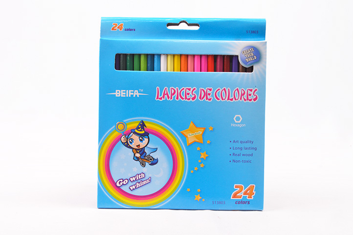 PACK 24 LAPICES LARGOS COLORES BEIFA (HH)
