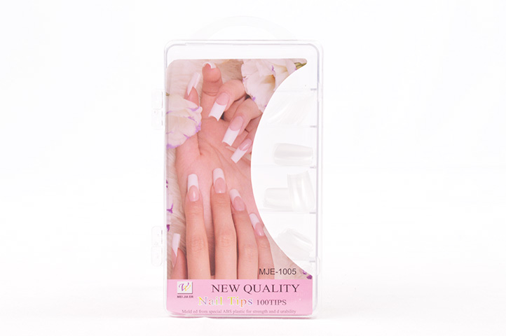 PACK 100 UÑAS POSTIZAS NEW QUALITY TRANSPARENTE (MJE-1005) (CS)