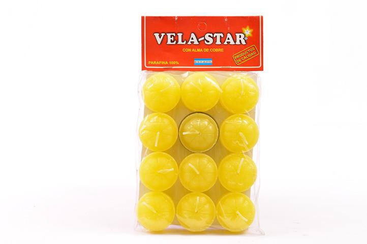 VELA DE NOCHE VELA-STAR x12unid. AMARILLO (PS)