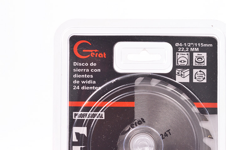 DISCO WIDIA 24 DIENTES 115mm (88718) (CLI2)