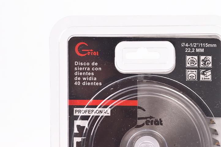 DISCO WIDIA 40 DIENTES 115mm (88050) (CLI2)