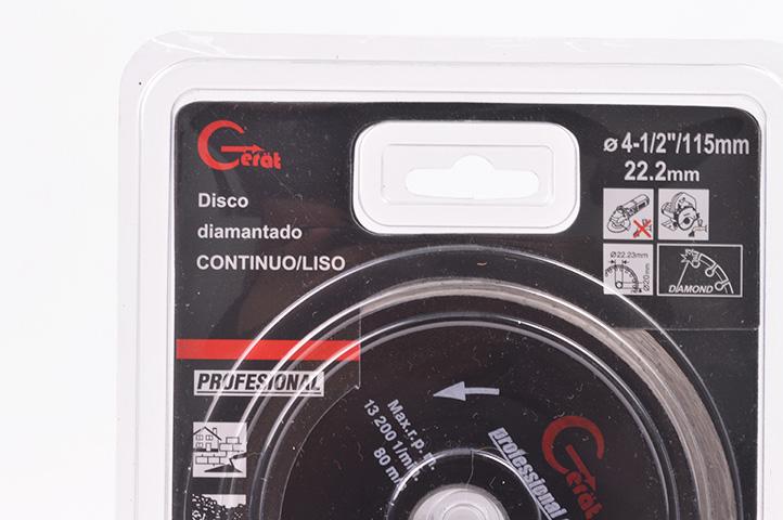 DISCO DIAMANTADO LISO 115mm (88067) (CLI2)