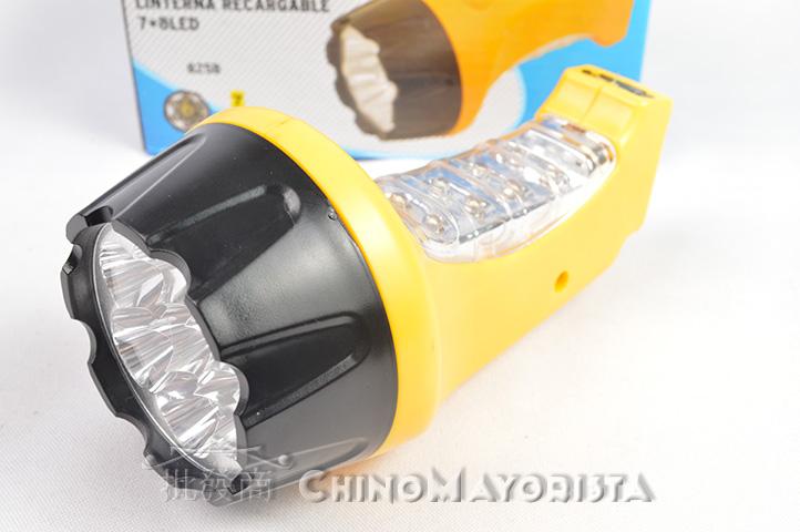 LINTERNA SARK 7 + 8 LED RECARGABLE (825B) (CS)