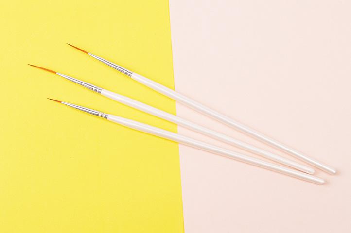 SET 3 PINCELES p/NAIL ART CERDA EXTRA LARGA (CLN)